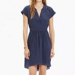 Madewell 100% Silk Fable Dress in Leaf Shade